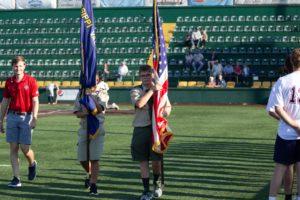 Flags at QU Stadium